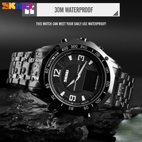 SKMEI Sport Man's Watch Luxury Dual Display Compass Alarm Calorie Calculation Men Clock Quartz Wristwatches relogio masculino