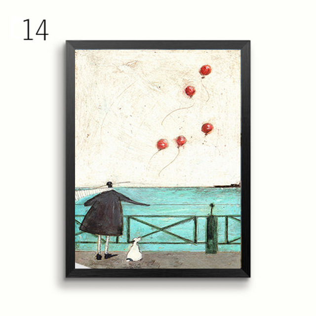 HTB1PeKiBsuYBuNkSmRyq6AA3pXaU Gohipang Happy Family Abstract Love Canvas Painting Vintage Posters Prints Scandinavian Nordic Wall Art Picture For Bedroom Home