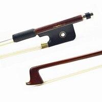 120M VIOLA BOW Carbon Fiber Core Pernambuco Skin Stick Ebony Frog with Nickel Silver Natural Horsehair Violin Parts Accessories