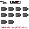 Comercio al por mayor 10x batería batteria sj 4000 para sjcam sj4000 sjcam sj4000 sj 4000 5000 6000 1080 p sj7000 sj9000 cámara accesorios