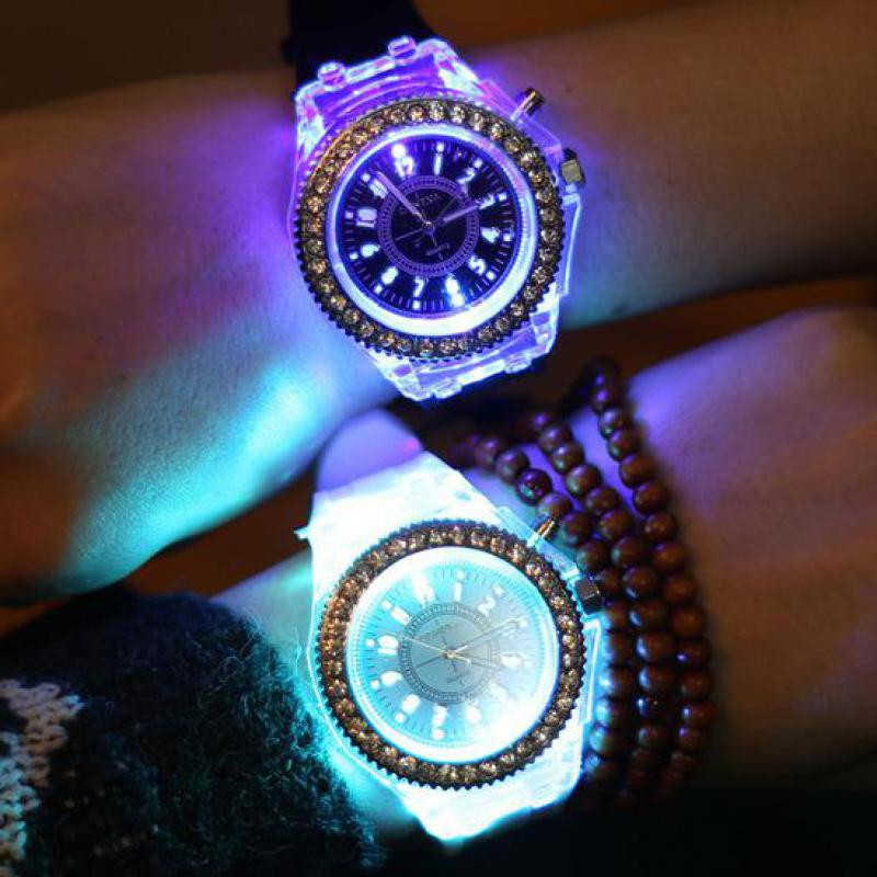 Relogio Feminino 2017 hot sale Wrist Watch Women Big Dial LED Backlight Fashion casual silicone Sport Watch for girls clock gift hot horloge new desigh hot sale colorful boys girls students time electronic digital wrist sport watch 2017may10
