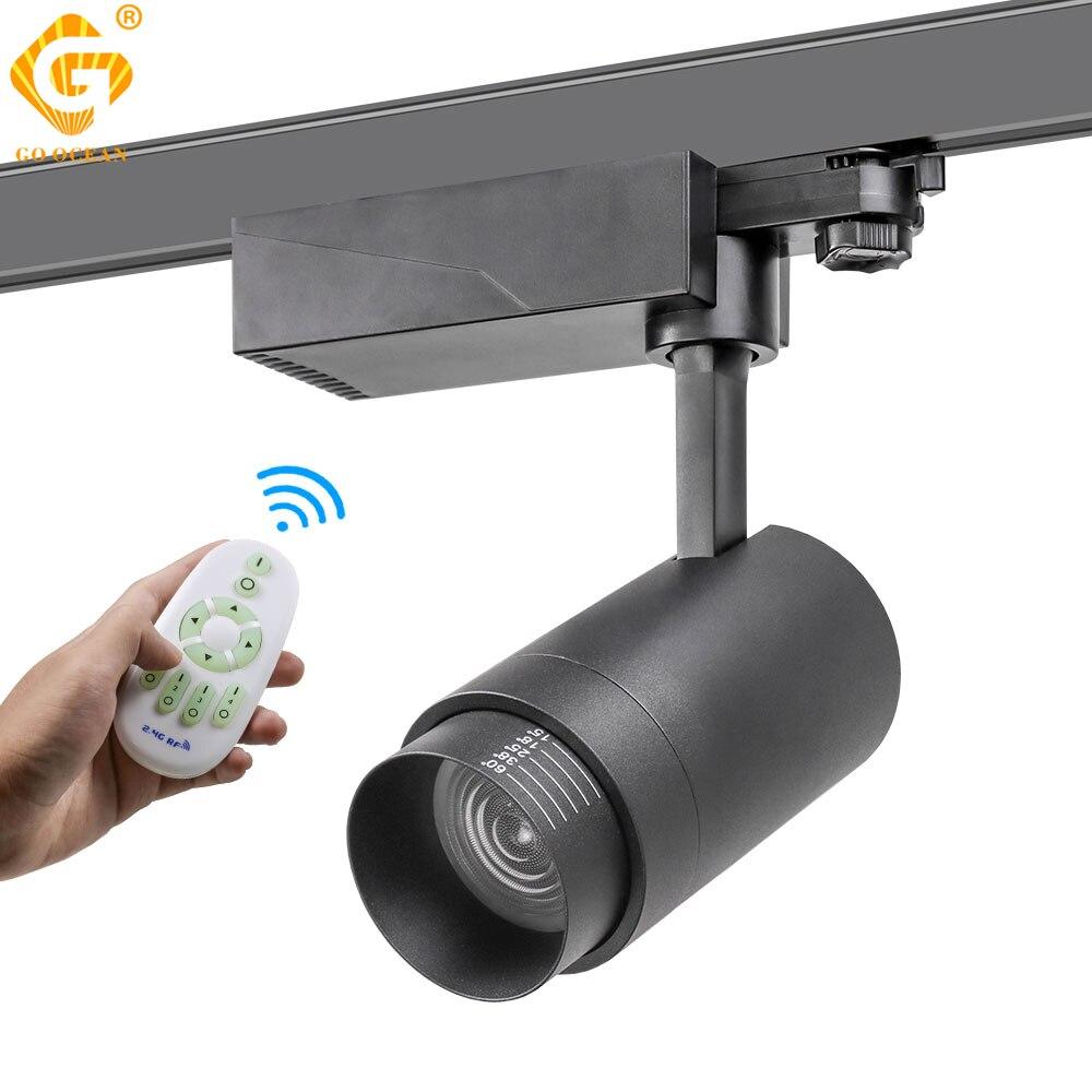 20W Zoomable Track Licht 2,4G RF Wireless Control Schiene Scheinwerfer Beleuchtung System Helligkeit CCT Dimmbare Farbe Veränderbar