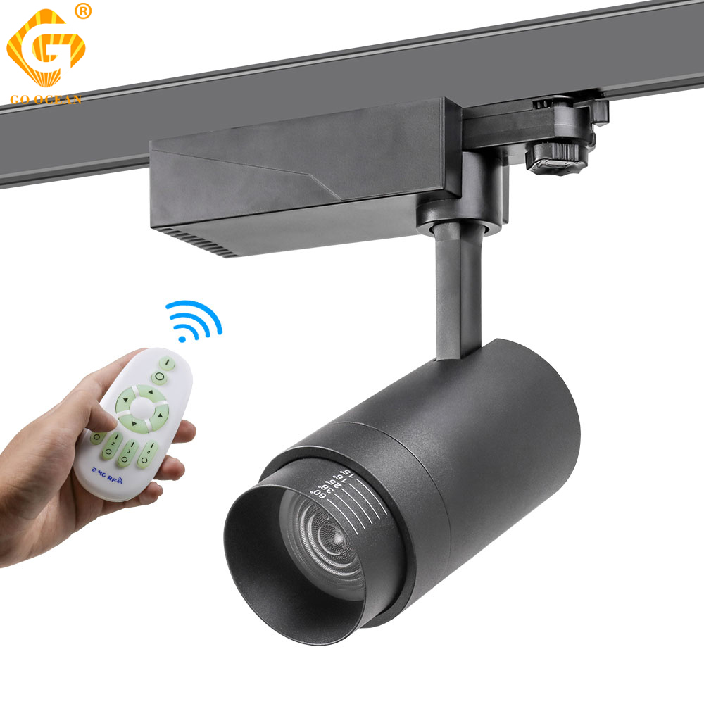 20W Zoomable Track Light 2.4G RF Wireless Control Track Rail Spotlight Lighting System Brightness CCT Dimmable Color Changeable