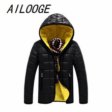 2016 Fashion Winter Jacket Men brand New Parka Thick Hooded With Long Sleeve And Stand Collar Of Casual Mens Down-Jacket