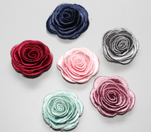 2017 New DIY Artificial flower embroidering flowers for hair accessories women Apparel brooch material 120pcs/lot