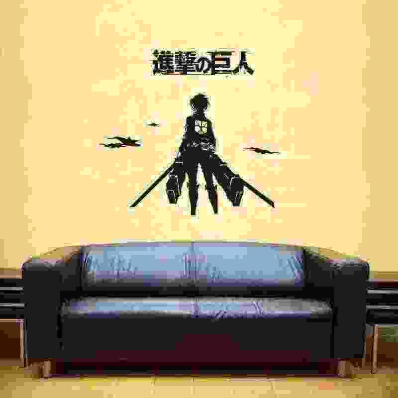 Pegatina هجوم على تيتان ملصق أنيمي الكرتون سيارة ملصق لاصق لامع ورائع الفينيل ملصقات جدار ديكور المنزل الديكور