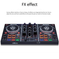 Computer DJ Controller to Play Players CP Playing Disc Audio Mixing Console Sound Mixer player with CD Color light DJing machine