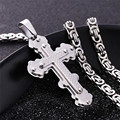Crucifix Jewelry Stainless Steel Jesus Cross Pendants Choker Necklace Chain Jewelry Gift Wholesale For Men/ Women