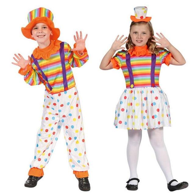 2018 Kids Boys Girls Dot Clown Cosplay Costume Children Circus Clown Performance Costumes Party Fancy Dress  sc 1 st  AliExpress.com & 2018 Kids Boys Girls Dot Clown Cosplay Costume Children Circus Clown ...