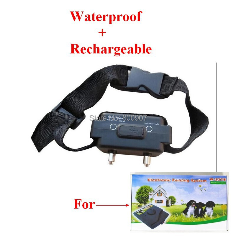 Extra Waterproof Rechargeable Pet Fence Receiver Shock Additional Collar for Electronic Pet Fencing System model W227B