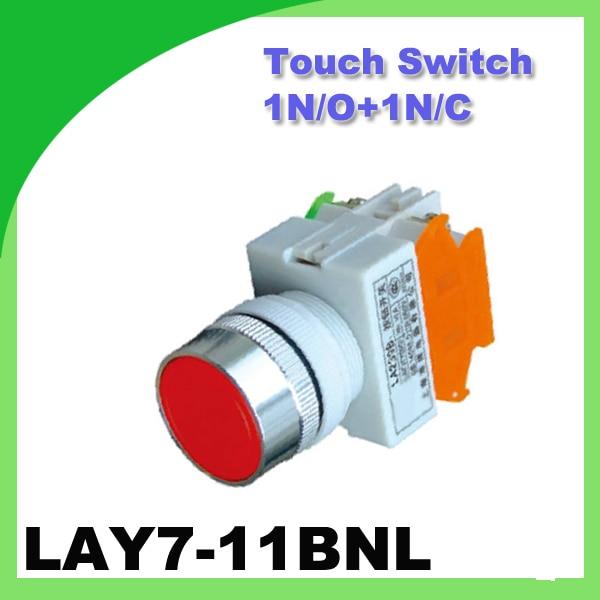 Touch Switch LAY7-11BNL(Y090-11BNL) 1N/O+1N/C push button 22mm 50/60Hz Even button alternation Push Button Switch