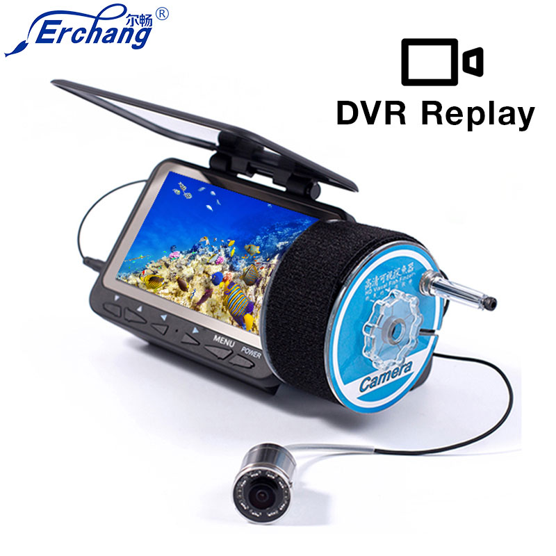 Erchang Fish finder Underwater Ice Video Camera fishing 4 3 LED Wired Visual Fish Finder Video