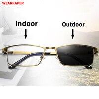 9f4f6b0da ... óculos de Leitura Presbiopia Hipermetropia Multifocal Progressiva  Glasse. WEARKAPER Brushed Gold Frame Sun Transition Photochromic Reading  Glasses Men ...