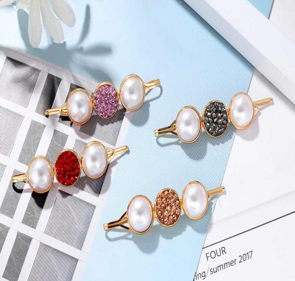 Fashion Imitation Pearl Hair Clip For Women Elegant Korean Design Hair Pins Wedding Hair Accessories A0007