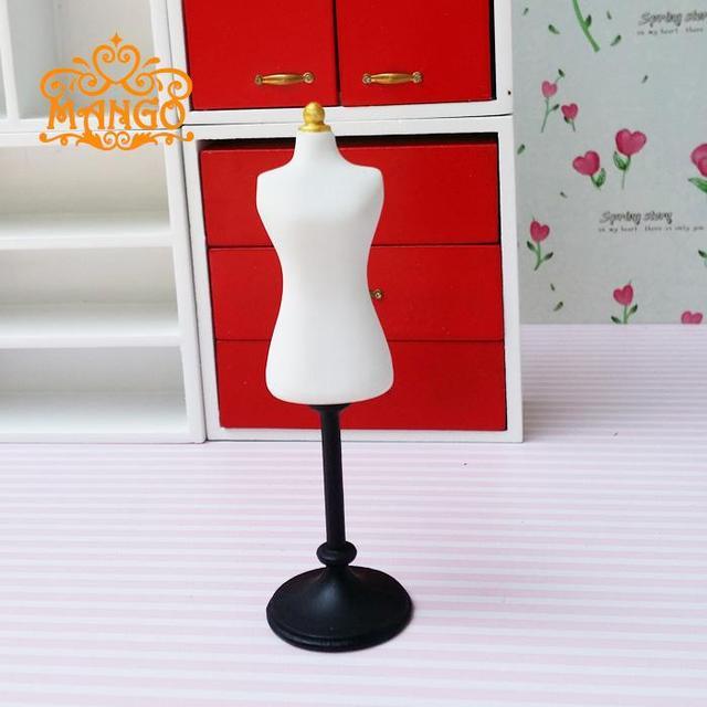 1:12 Dollhouse Miniature Cast Metal Dress Form Dressmaker Mannequin The white model Free Shipping