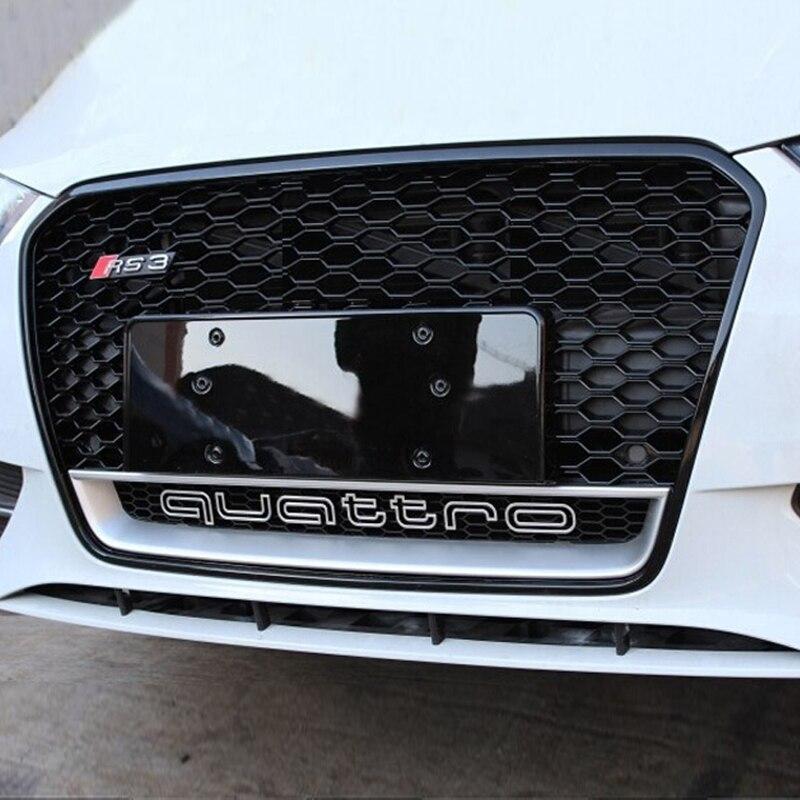 for audi A3 RS3 Quattro Style chrome emblem black Front Bumper mesh Grill Grille 2014~2015