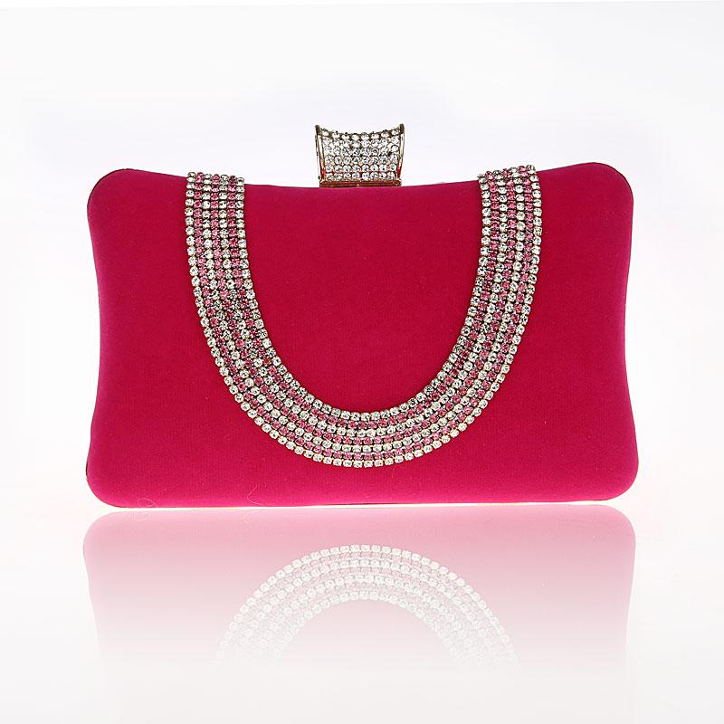 цена на 2016 New Design Hot Pink Totes Party Evening Bag Fashion Women's Wallet Style Chain Handbag Clutch Banquet Mini Bag Bolso 7309
