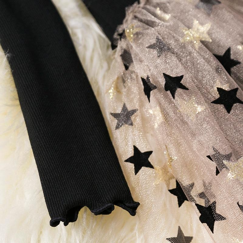 HTB1PeMmaErrK1RkSne1q6ArVVXav Kids Long Sleeve Lace Drsses for Girls Party Dress Star Printed Birthday Tutu Dresses Children Casual Wear 3 6 8 Years Vestidos
