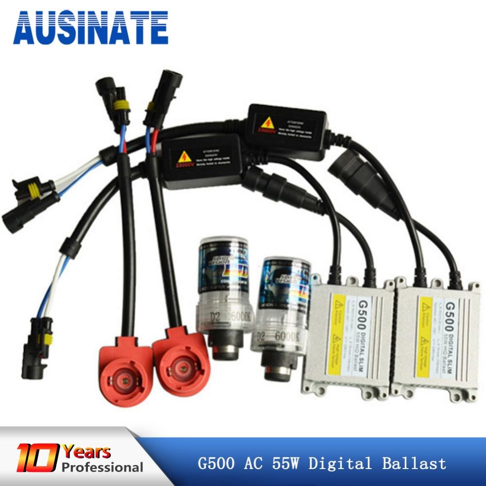 AC 55W D2S Xenon Lamp Kit Car Headlight Bulb HID Ballast 4300k 6000k 8000k xenon D2S Car Light 12V