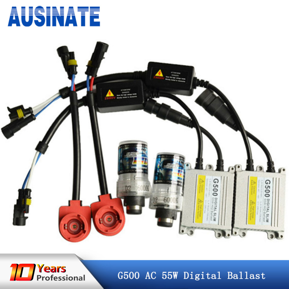 AC <font><b>55W</b></font> <font><b>D2S</b></font> Xenon Lamp Kit Car Headlight Bulb HID Ballast 4300k 6000k 8000k xenon <font><b>D2S</b></font> Car Light 12V image