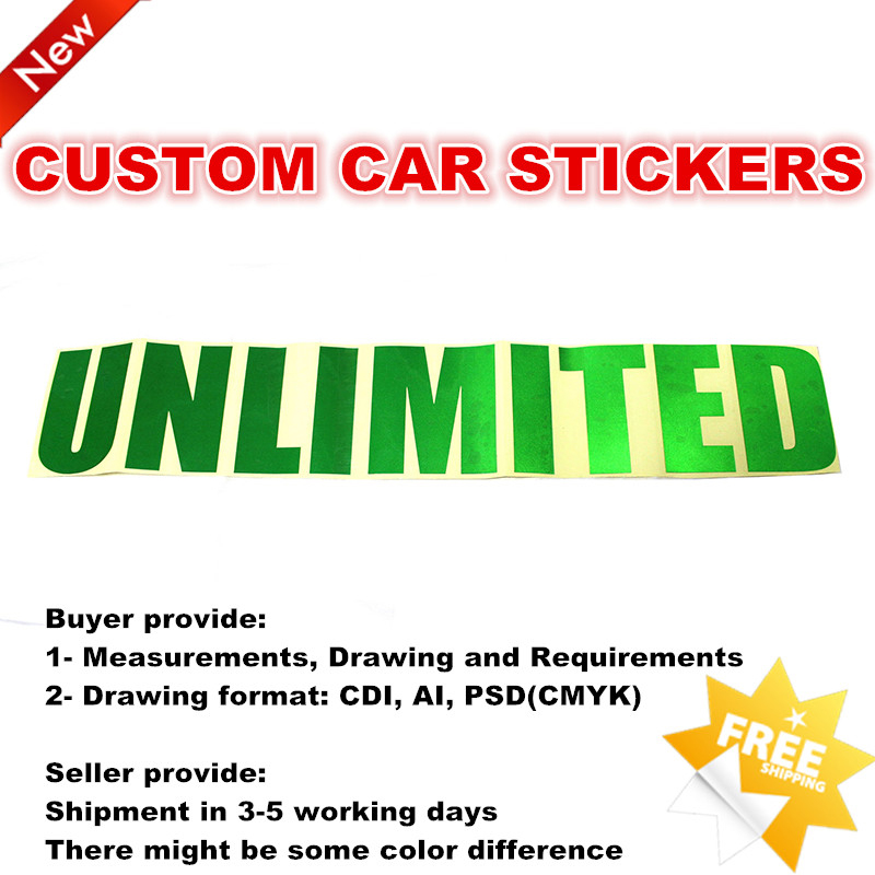 Custom Car Sticker Green Reflective Color Stickers for Cars Hood Door Body Unlimited car body sticker for cars for fiat 500 dynamic grid waist custom car stickers and decals car styling auto accessories 2pcs