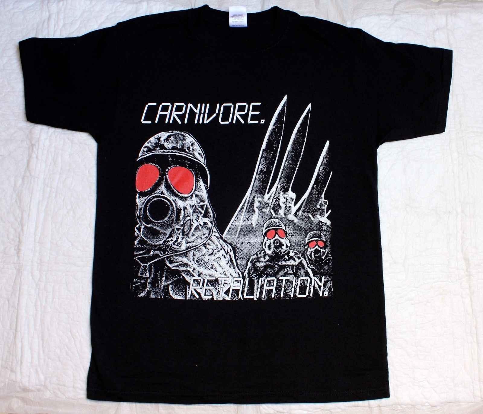 CARNIVORE VERGELDING 1987 CROSSOVER THRASH PETER STEELE NIEUWE ZWARTE T-SHIRT Mannelijke Hip Hop funny Shirts goedkope groothandel