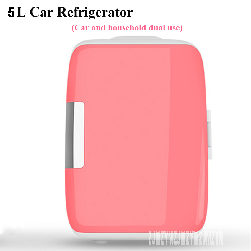 New Portable 5L Mini Car Refrigerator car home dual-use 12V Multi-Function dormitory bedroom Home Travel mini small car refrige coxto home car travel 1l 5l 90