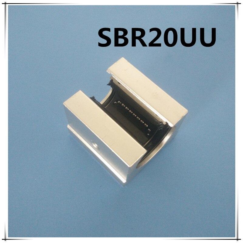 4 pcs SBR20UU SBR20 Linear Bearing 20mm Open Linear Bearing Slide block 20mm CNC parts linear slide