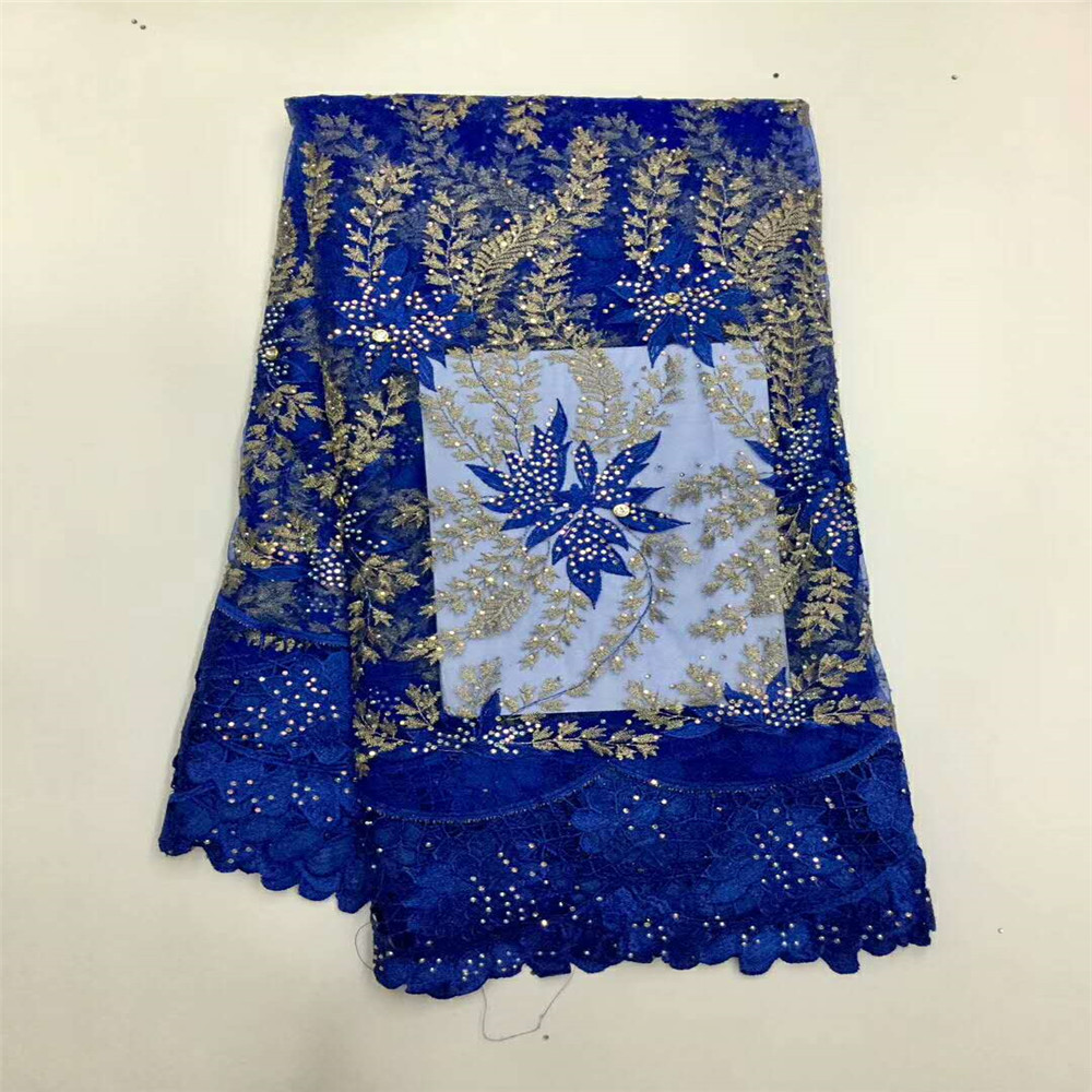 2018 Latest blue French Nigerian Lace Fabrics High Quality Tulle African Laces Fabric Wedding HJ236-1 2018 Latest blue French Nigerian Lace Fabrics High Quality Tulle African Laces Fabric Wedding HJ236-1