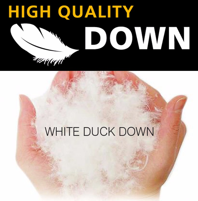 White duck down