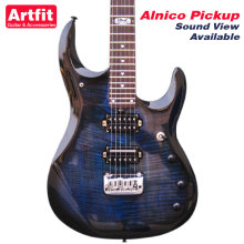 Giggle JP6 Johnpetrucci Coil Split Alnico V HH Koa Top Manhattan Midnight Blue Musicman Electric Guitarras Free Shipping Guitare(China)