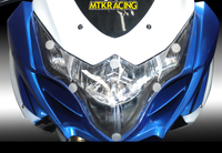 MTKRACING FOR Suzuki GSX R 1000 GSX R1000 GSX R 1000 GSXR 1000 2009 2014 motorcycle Headlight Protector Cover Shield Screen Lens