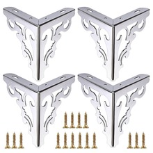 4 本の金属家具美脚足、現代ソファキャビネット脚の修理 & 修復ドレッサー、ワードローブ、ティーテーブル、ワークトップ Shel