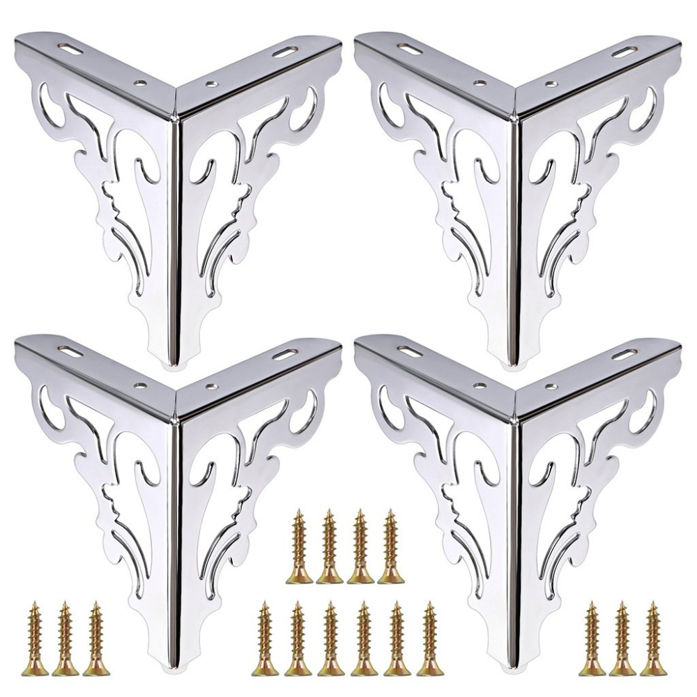 4pcs Metal Furniture Legs Feet, Modern Sofa Cabinet Legs For Repair & Restoration Of Dresser, Wardrobe, Tea Table, Worktop Shel