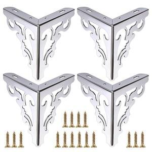 Image 1 - 4pcs Metal Furniture Legs Feet, Modern Sofa Cabinet Legs for Repair & Restoration of Dresser, Wardrobe, Tea Table, Worktop Shel