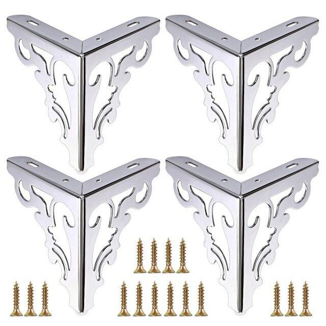 4pcs Metal Furniture Legs Feet, Modern Sofa Cabinet Legs for Repair & Restoration of Dresser, Wardrobe, Tea Table, Worktop Shel