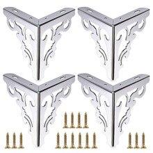 4pcs Mobili In Metallo Gambe Piedi, Divano Moderno Cabinet Gambe per la Riparazione e Restauro di Comò, Armadio, tavolo Da tè, Piano di Lavoro Shel