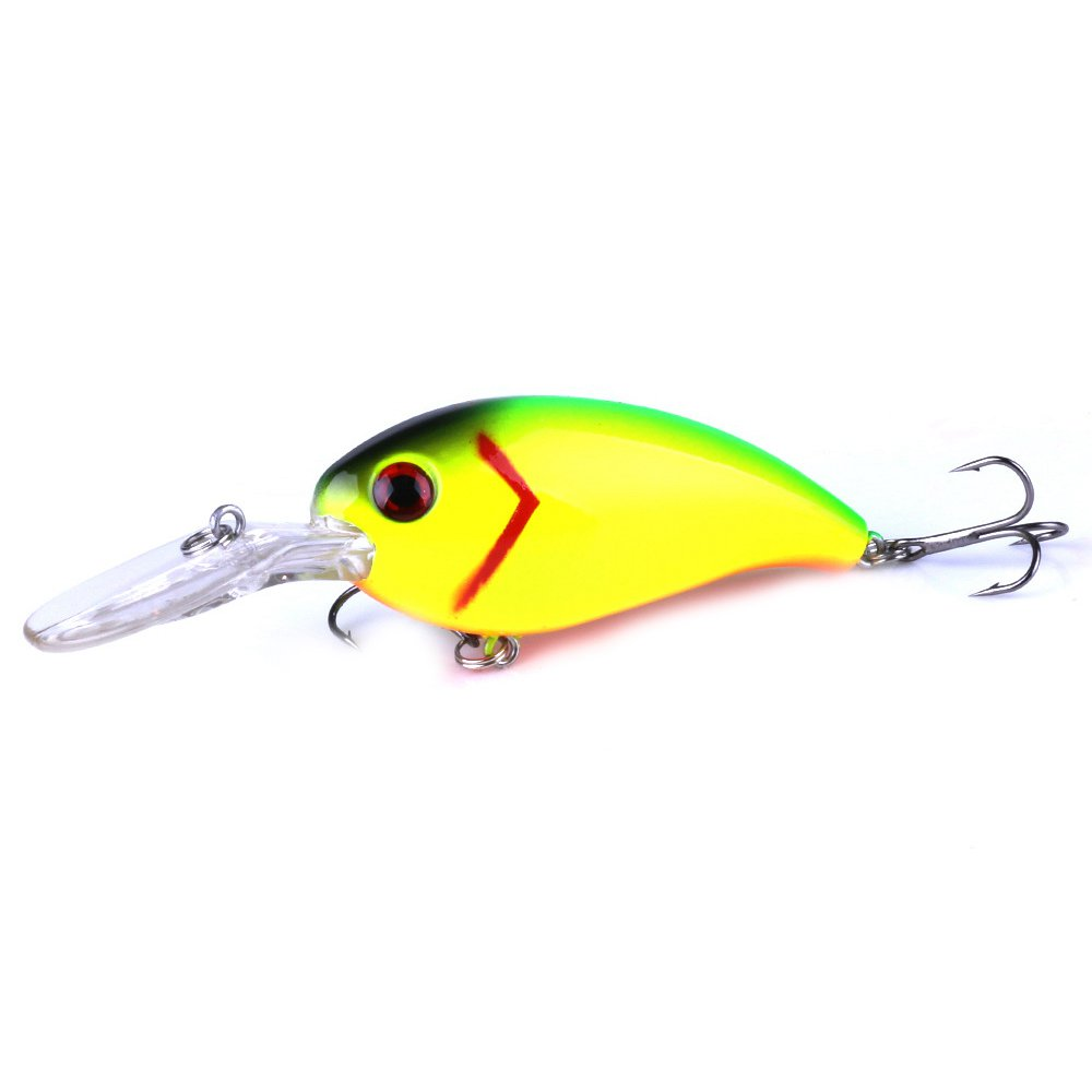 HENG JIA Sea fishing road Asian rock bait 10cm / 14g bait Luya plastic bait, Yellow + Green Side