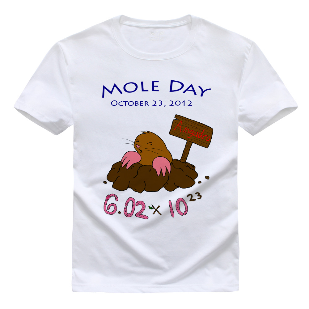 b8d2adba6 Scientific Mole Chemistry Men and women T shirt Pure cotton Round collar t  shirt High quality Hey Ladies tee shirt for women-in T-Shirts from Men's  Clothing ...
