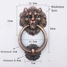 Античная бронзовая Львиная голова декоративная ручка деревянная дверная ручка тянет ручки красные бронзовые ручки для мебели дверные ручки