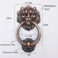 Antique Bronze Lion Head Handle For Wooden Door Handle Knobs Pulls With Knocker Vintage Handle Red