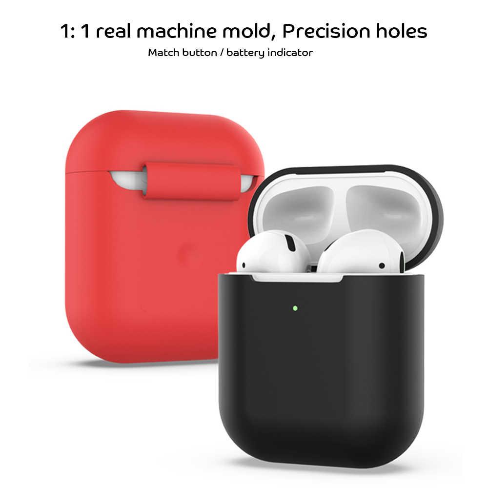 TPU miękki futerał silikonowy do Apple Airpods 2 akcesoria Protector pokrywa, Ultra cienkie, odporne na wstrząsy słuchawki stojak na poduszki powietrzne 2nd