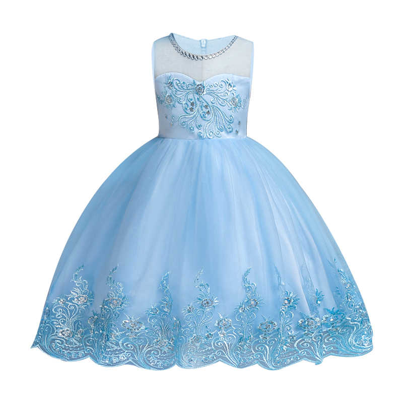 Kids Dresses 2018 Girls Clothes Party Princess Vestidos Girl Birthday Wedding Pageant Formal Party High Waist Lace Dress
