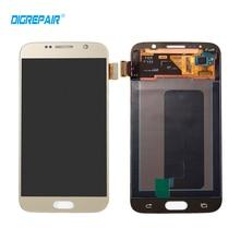 Altın Samsung Galaxy S6 G920 G920f için LCD Ekran Dokunmatik Ekran Digiziter Meclisi ile Yedek Parçaları, ücretsiz kargo