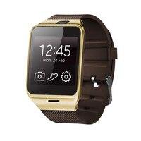 ขั้นสูง2017ใหม่GV18บลูทูธสมาร์ทนาฬิกาโทรศัพท์GSM NFCกล้องนาฬิกาข้อมือกันน้ำสำหรับSamsungสำหรับiPhone
