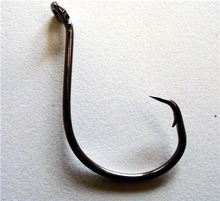 50 X 6/0 Fishing Hooks Stainless Steel Carbon Chemically Sharpened Octopus Circle Hook Fishing Tackle 7385 Fishing Hooks