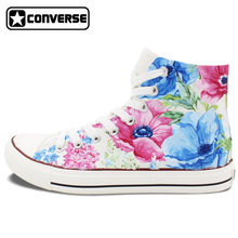 Colourful Converse All Star Hand Painted Shoes Nature Flower Floral Original Design Custom Men Women's Sneakers