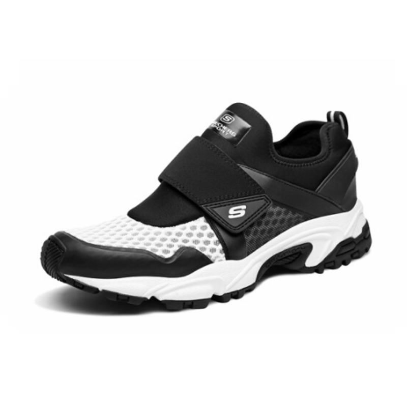 US $84.65 21% OFF|Skechers Sport Shoes Men Lightweight Running Male Shoes Mesh Chunky Casual Shoes Men Brand Luxury Walking Shoes 51706 BKGY in Men's