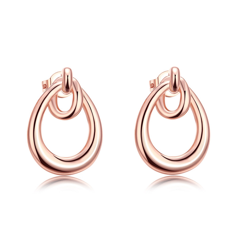 Bohemian Wholesale Stud Earrings For Women Rose Gold 585 Plated