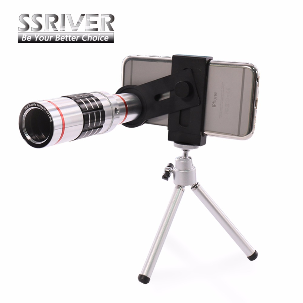 bilder für SSRIVER 7 in 1 Handy Objektiv 18 xZoom optical Teleskop tele objektiv mit stativ Für iphone 6 Plus Samsung Galaxy S7 Hinweis 5